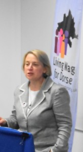 "Natalie Bennett ""How can you build a life when you face the insecurity of low pay?"""